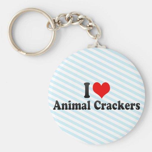 I Love Animal Crackers Keychain