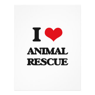 I Love Animal Rescue Full Color Flyer