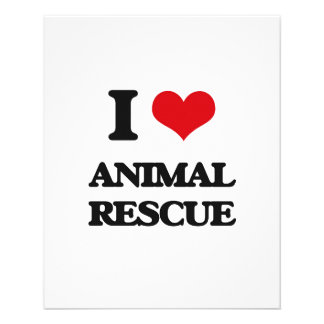 I Love Animal Rescue Flyer