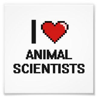 I love Animal Scientists Photo Print