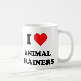 I Love Animal Trainers Classic White Coffee Mug