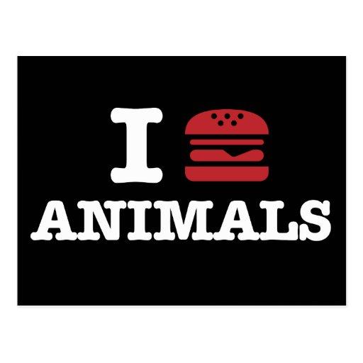 i love animals2 postcard