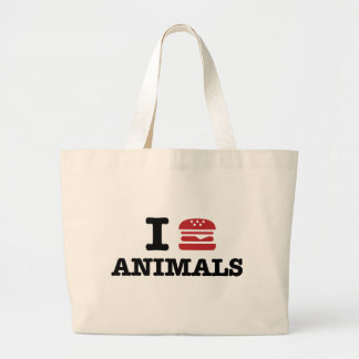 i love animals tote bags