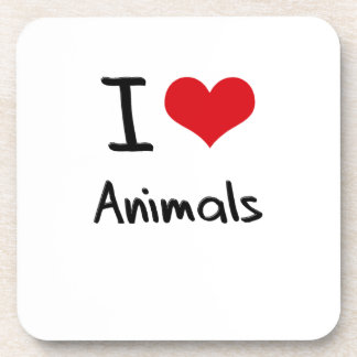I love Animals Beverage Coasters