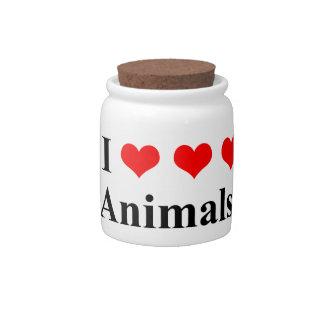 I love animals! candy jar