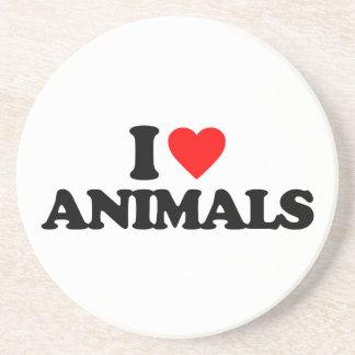 I LOVE ANIMALS COASTERS