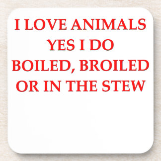 i love animals drink coaster