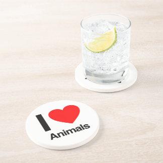 i love animals drink coasters
