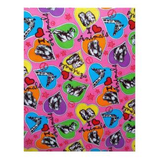 I Love Animals Jungle Heart Scrapbook Sheet Letterhead