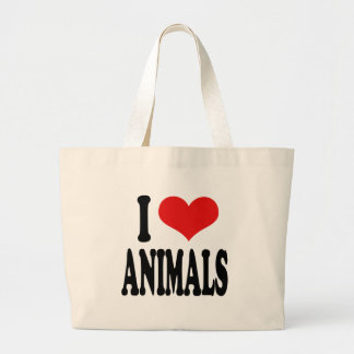 I Love Animals Large Tote Bag