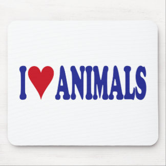 I Love Animals Mouse Pad
