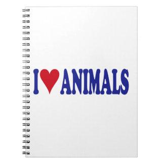 I Love Animals Spiral Notebook