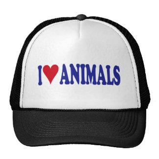I Love Animals Trucker Hat