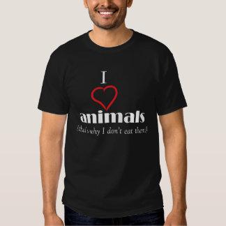 i Love animals tshirt