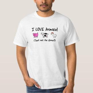 I Love Animals Vegetarian T-Shirt
