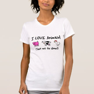 I Love Animals Vegetarian T-Shirt