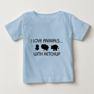 I Love Animals With Ketchup Baby T-Shirt