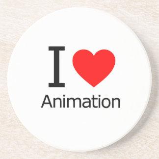 I Love Animation Beverage Coasters