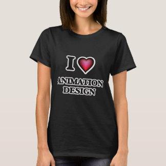 I Love Animation Design T-Shirt