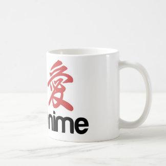 i love anime classic white coffee mug