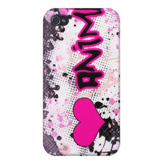 I Love Anime iPhone 4 Case