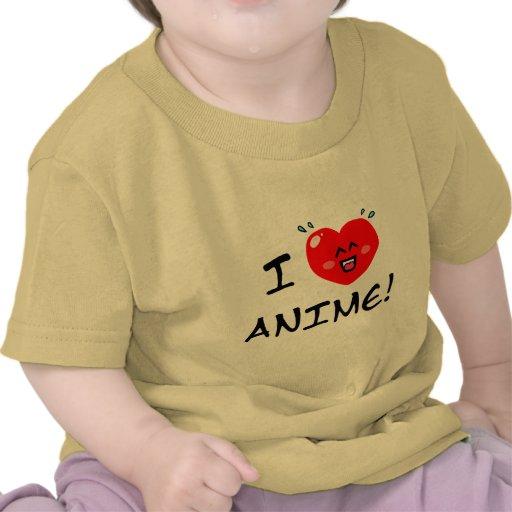 I Love Anime Tee Shirt