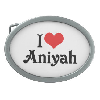 I Love Aniyah Belt Buckle