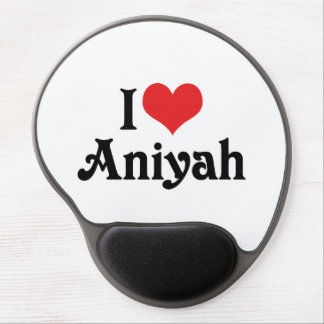 I Love Aniyah Gel Mouse Pad