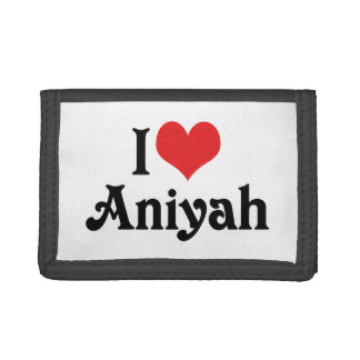 I Love Aniyah Trifold Wallets