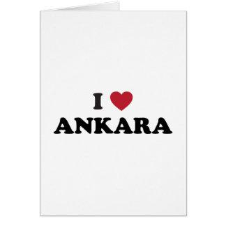 I Love Ankara Turkey Card