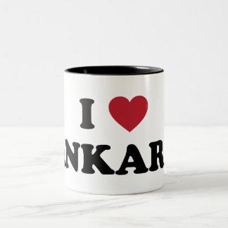 I Love Ankara Turkey Two-Tone Coffee Mug