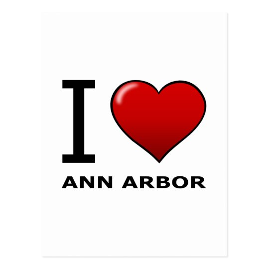 I LOVE ANN ARBOR,MI - MICHIGAN POSTCARD
