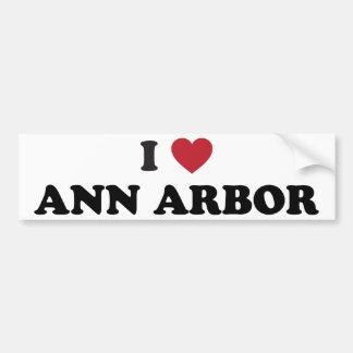 I Love Ann Arbor Michigan Car Bumper Sticker