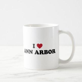 I Love Ann Arbor Michigan Classic White Coffee Mug