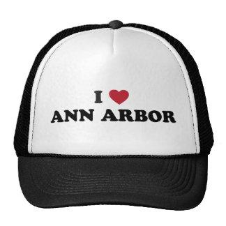 I Love Ann Arbor Michigan Hat