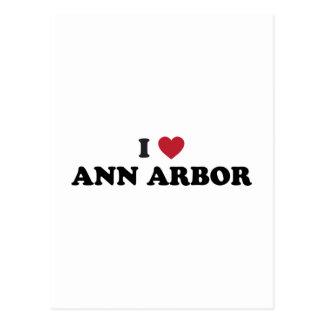 I Love Ann Arbor Michigan Postcard