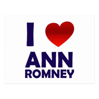 I Love Ann Romney Postcard