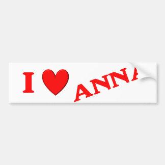 I Love Anna Bumper Stickers