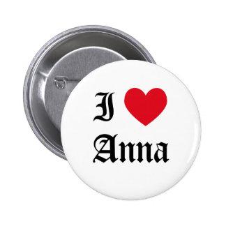 I Love Anna Button