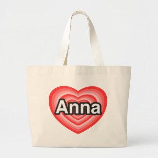 I love Anna. I love you Anna. Heart Large Tote Bag