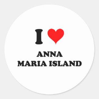 I Love Anna Maria Island Round Sticker
