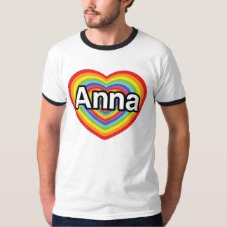 I love Anna, rainbow heart T-Shirt