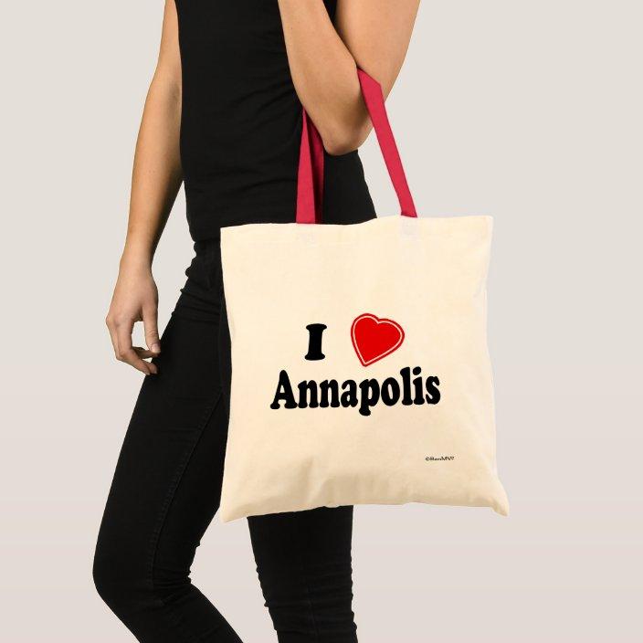 I Love Annapolis Canvas Bag