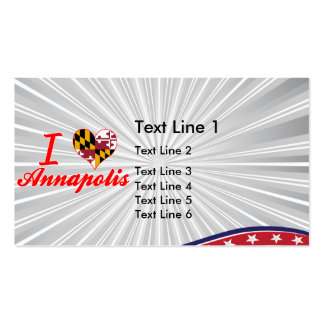 I Love Annapolis, Maryland Double-Sided Standard Business Cards (Pack Of 100)