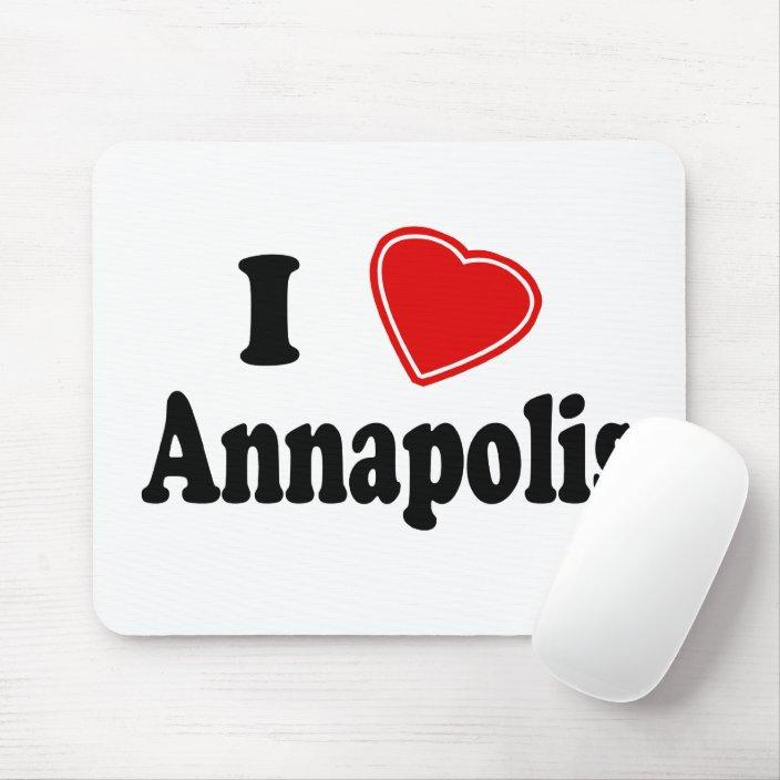 I Love Annapolis Mouse Pad