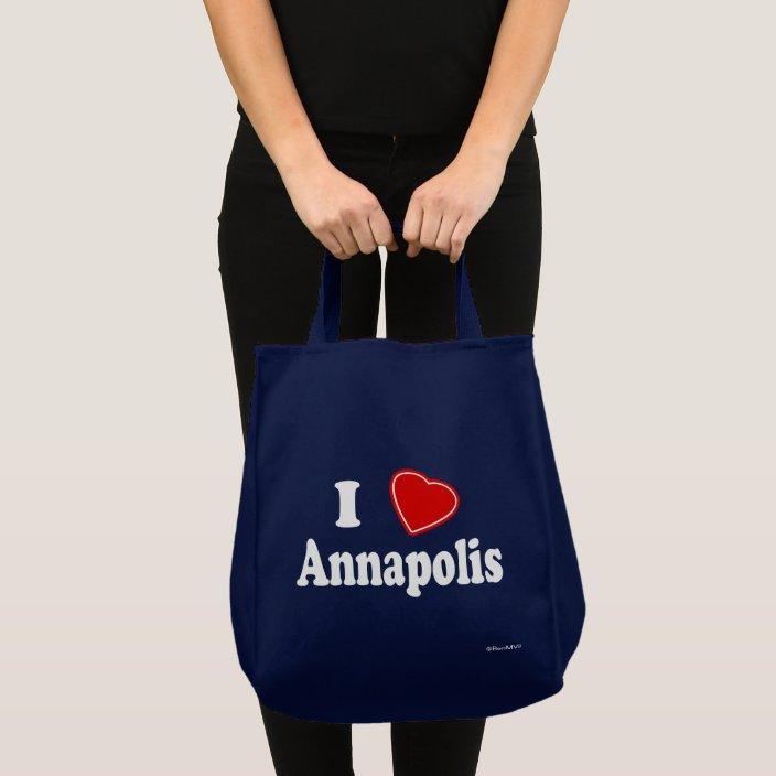 I Love Annapolis Tote Bag