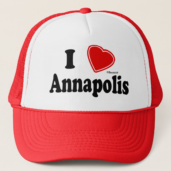 I Love Annapolis Trucker Hat