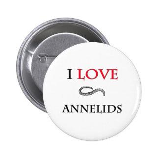 I Love Annelids Pinback Button