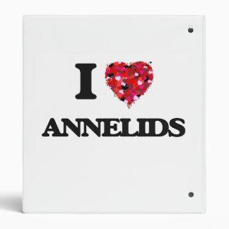 I love Annelids Vinyl Binder
