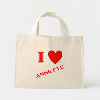 I Love Annette Canvas Bags